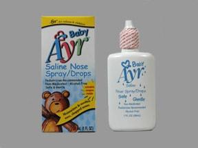 Baby Ayr Saline 0.65 % nasal drops