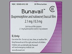 Bunavail 2.1 mg-0.3 mg buccal film