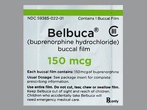 Belbuca 150 mcg buccal film