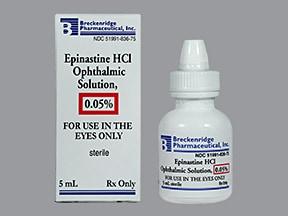 Epinastine Ophthalmic (Eye) : Uses, Side Effects