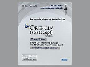 Orencia 50 mg/0.4 mL subcutaneous syringe