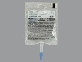 Azactam 2 gram/50 mL in dextrose (iso-osmotic) intravenous piggyback