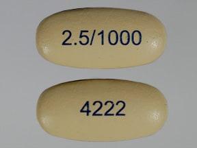 Kombiglyze XR 2.5 mg-1,000 mg tablet,extended release