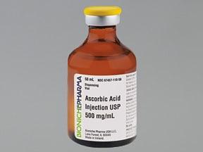 ascorbic acid (vitamin C) 500 mg/mL injection solution