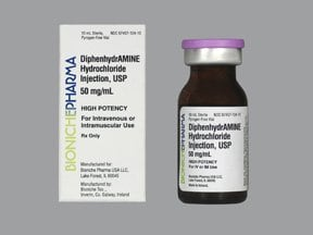diphenhydramine 50 mg/mL injection solution