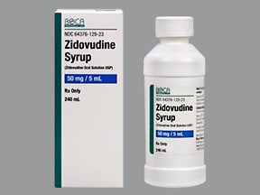 zidovudine 10 mg/mL syrup