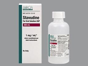 stavudine 1 mg/mL oral solution