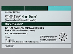Spiriva with HandiHaler 18 mcg and inhalation capsules