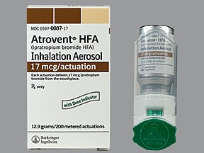 Atrovent HFA 17 mcg/actuation aerosol inhaler