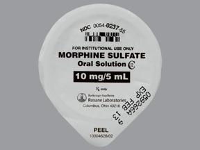 morphine 10 mg/5 mL oral solution