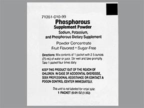 Phosphorous Supplement 280 mg-160 mg-250 mg oral powder packet
