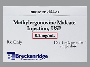 methylergonovine 0.2 mg/mL (1 mL) injection solution