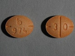 dextroamphetamine-amphetamine 30 mg tablet
