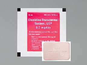 clonidine 0.2 mg/24 hr weekly transdermal patch