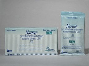 Nortrel 1/35 (21) 1 mg-35 mcg tablet