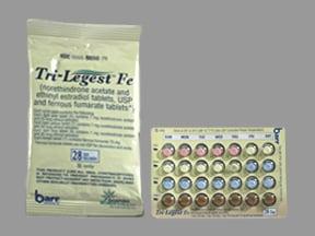 Tri-Legest Fe 1-20 (5)/1-30(7)/1mg-35mcg(9) tablet