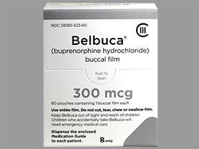 Belbuca 300 mcg buccal film