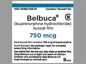 Belbuca 750 mcg buccal film