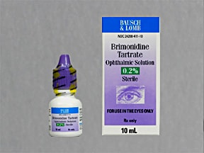 brimonidine 0.2 % eye drops