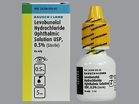 levobunolol 0.5 % eye drops
