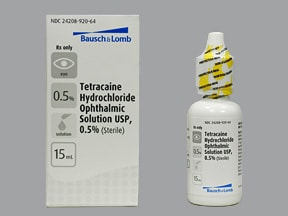 tetracaine 0.5 % eye drops
