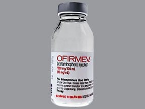 Ofirmev 1,000 mg/100 mL (10 mg/mL) intravenous solution