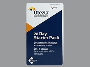 Otezla Starter 10 mg (4)-20 mg (4)-30 mg(47) tablets in a dose pack