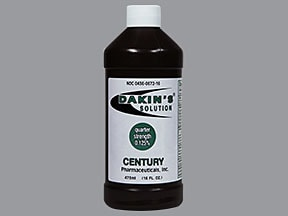 Dakin's Solution : Uses, Side Effects, Interactions