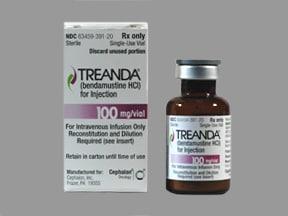 Treanda 100 mg intravenous powder for solution