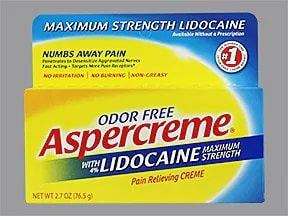 Aspercreme (lidocaine) 4 % topical