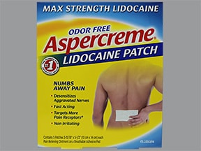 Aspercreme (lidocaine) 4 % topical patch