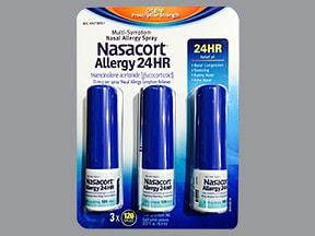 Nasacort 55 mcg nasal spray aerosol