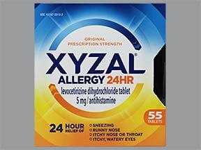Xyzal 5 mg tablet