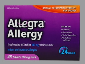 Allegra Allergy 180 mg tablet
