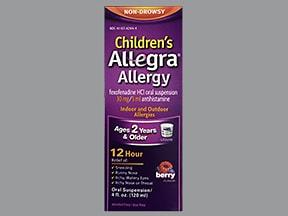 Children's Allegra Allergy 30 mg/5 mL oral suspension