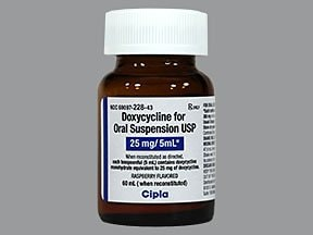 doxycycline monohydrate 25 mg/5 mL oral suspension