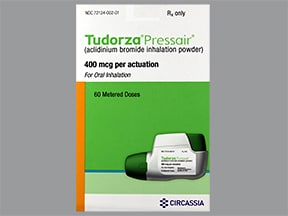 Tudorza Pressair 400 mcg/actuation breath activated