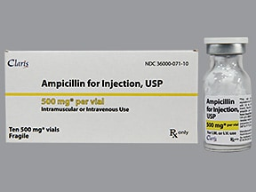 ampicillin 500 mg solution for injection