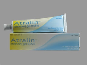 Atralin 0.05 % topical gel