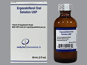 ergocalciferol (vitamin D2) 8,000 unit/mL oral drops