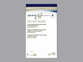 """Aquacel-AG 1.2 %-0.39"""" X 18"""" bandage"""