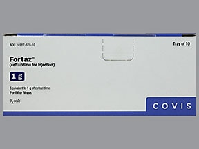 Fortaz 1 gram solution for injection