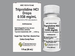 triprolidine HCl 0.938 mg/mL oral drops