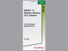AlbuRx (Human) 25 % intravenous solution