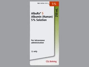 AlbuRx (Human) 5 % intravenous solution