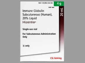Hizentra 4 gram/20 mL (20 %) subcutaneous solution