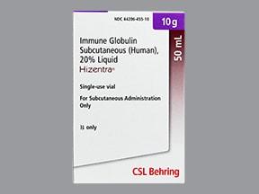Hizentra 10 gram/50 mL (20 %) subcutaneous solution