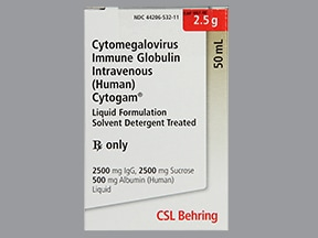 CytoGam 50 mg/mL intravenous solution