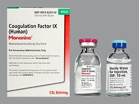 Mononine 1,000 (+/-) unit intravenous solution