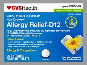 Allergy Relief D12 5 mg-120 mg tablet,extended release